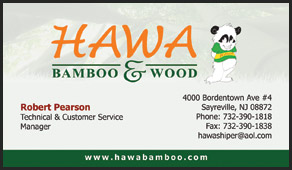 Hawa Flooring Manufacturers business cards