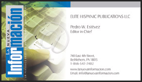 Elite Hispanic Publications business cards
