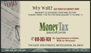Moneytax business cards